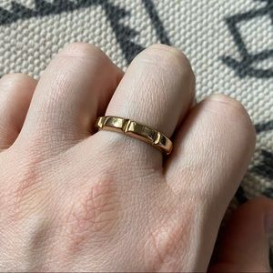 Melinda Maria Gold Bar Ring sz 9